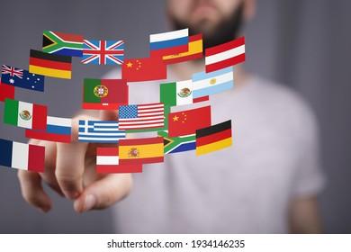 International world flag 3d digital