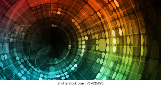 Internet Abstract Background as a Digital Concept