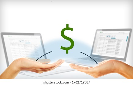 internet banking payments and accounting via payment system