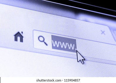 Internet - blue photo filter