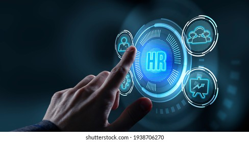Internet, business, Technology and network concept.Human Resources HR management concept.