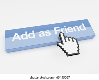 Internet button add as friend social networking