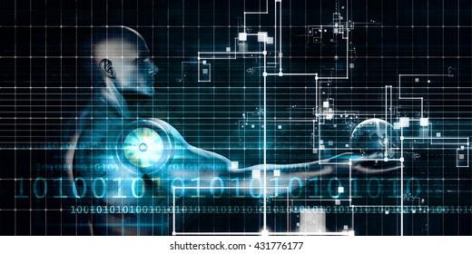 Internet Concept of a Global System and Business 3d Illustration Render