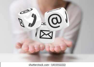 internet connection contact in hand