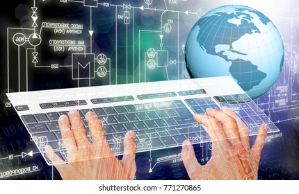 internet connection technology 3d rendering