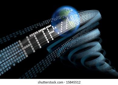 Internet, http, www, 3d blurred