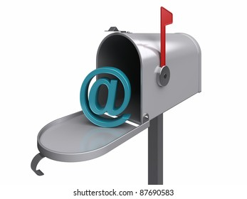 Internet mailbox, isolated. 3d rendered image