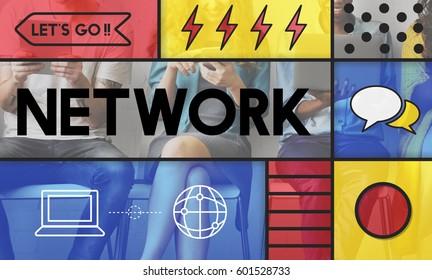 Internet Network Web Technology Concept