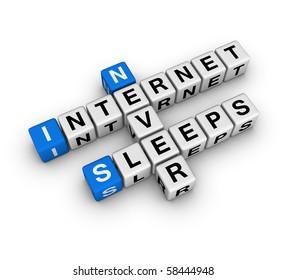 internet never sleeps (blue-white cubes crossword series)