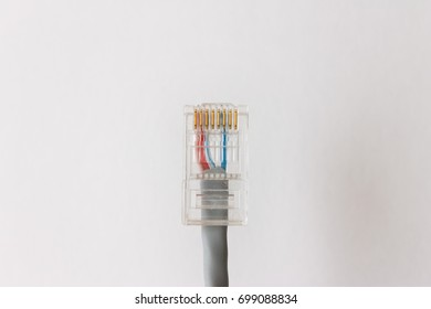 Internet plug on a light background