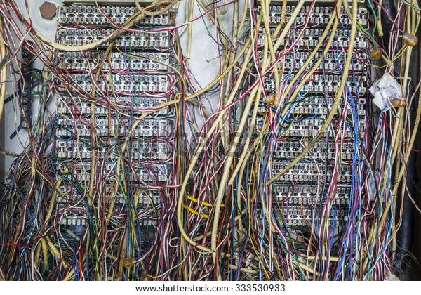 Internet Problemcausing By Disorder Wiring Stock Photo (Edit ... on