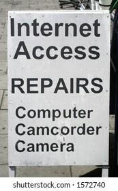 Internet and repairs