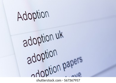 An internet search for information on Adoption