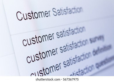 An internet search for information on Customer Satisfaction