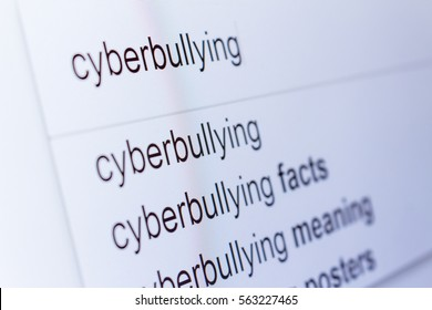 An internet search for information on Cyberbullying