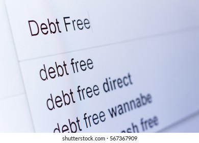 An internet search for information on Debt Free