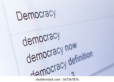 An internet search for information on Democracy