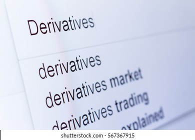 An internet search for information on Derivatives