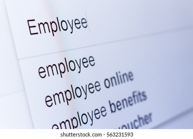 An internet search for information on Employee