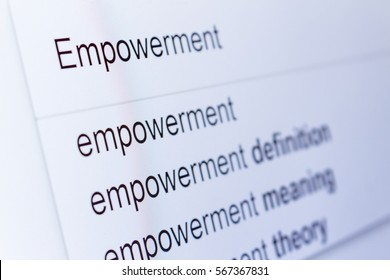An internet search for information on Empowerment