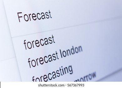 An internet search for information on Forecast