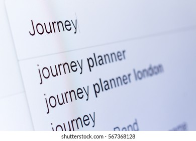 An internet search for information on Journey