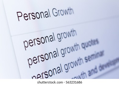 An internet search for information on Personal Growth