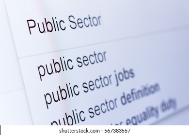 An internet search for information on Public Sector