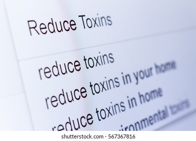 An internet search for information on Reduce Toxins