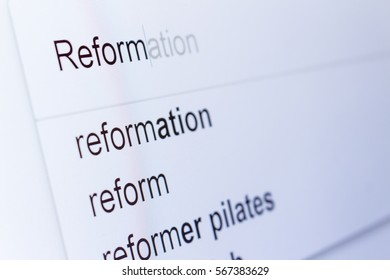 An internet search for information on Reform