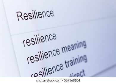 An internet search for information on Resilience