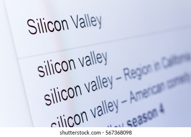 An internet search for information on Silicon Valley