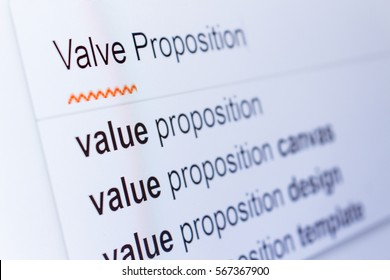 An internet search for information on Valve Proposition
