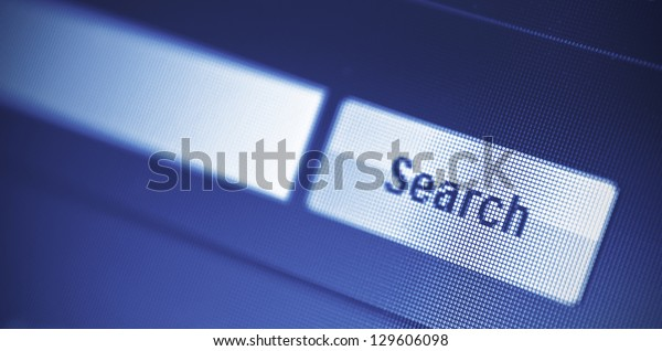 internet searching engine on monitor screen