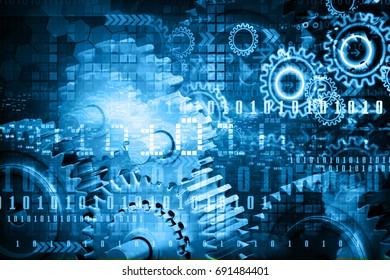 Internet technology background. 3d illustration