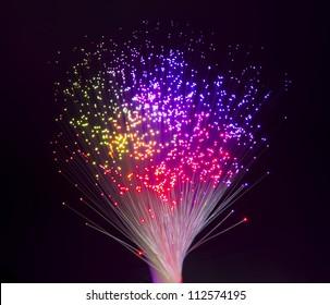 Internet technology fiber optic background