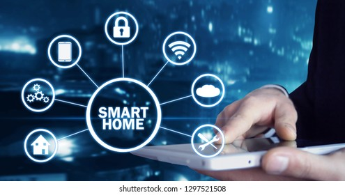 Internet of things. Smart home automation concept