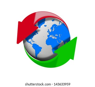Internet upload and download.  Elements of this image furnished by NASA
