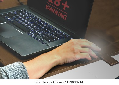 Internet warning eighteen plus adult  18+