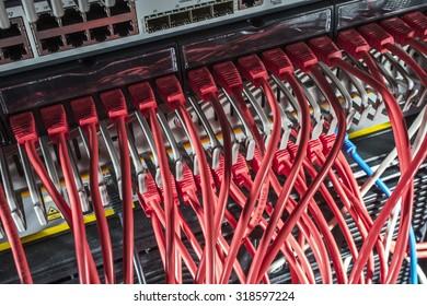 Internet wires in server