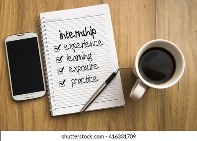 Internship benefits, business/education conceptual