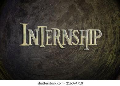 Internship Concept text on background