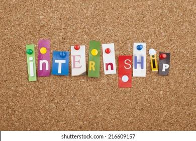 Internship Cut out Letters