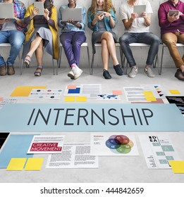 Internship Management Temporary Position Concept