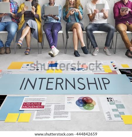 internship management temporary position concept stock photo edit