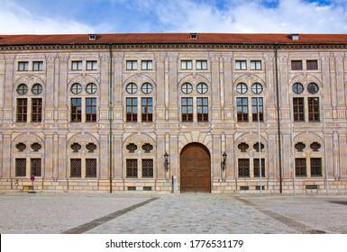 intérieur de la cour de la résidence du bâtiment à Munich, Allemagne
