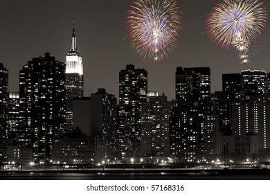 An interpretation of the skyline of midtown Manhattan including the Empire State Building