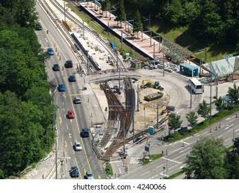 intersection road under construction