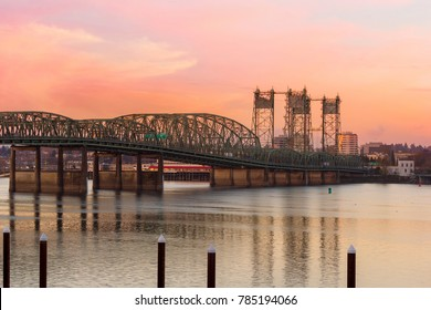 Interstate 5 Bridge over Columbia River between Oregon and Washington State