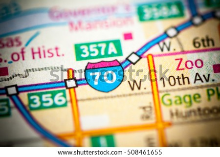 Interstate 70 Kansas Usa Stock Photo Edit Now 508461655 Shutterstock
